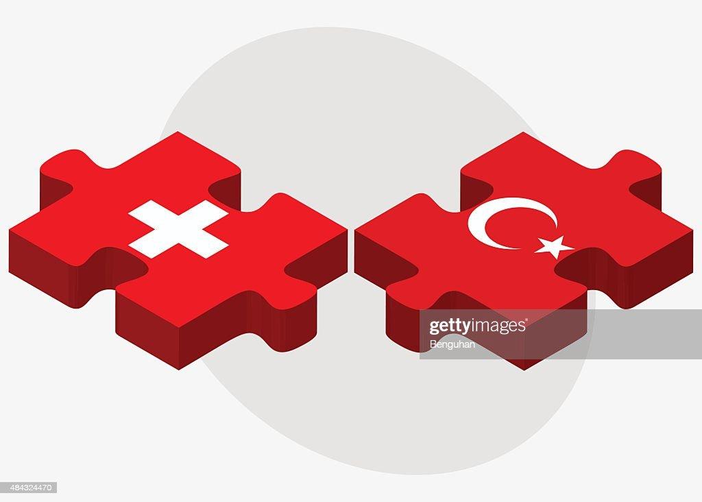 Switzerland and Turkey Flags