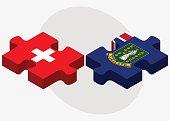 Switzerland and Virgin Islands (British) Flags