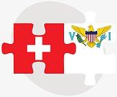 Switzerland and Virgin Islands (U.S.) Flags