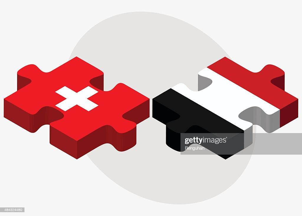Switzerland and Yemen Flags
