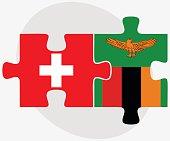 Switzerland and Zambia Flags