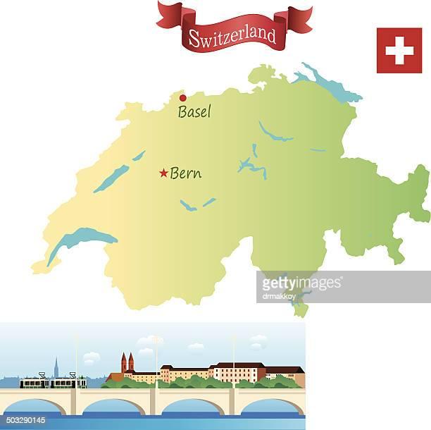switzerland, basel - swiss culture stock illustrations