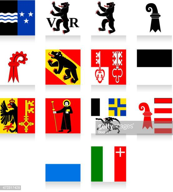 switzerland cantonal flag collection-part 1 - bern stock illustrations