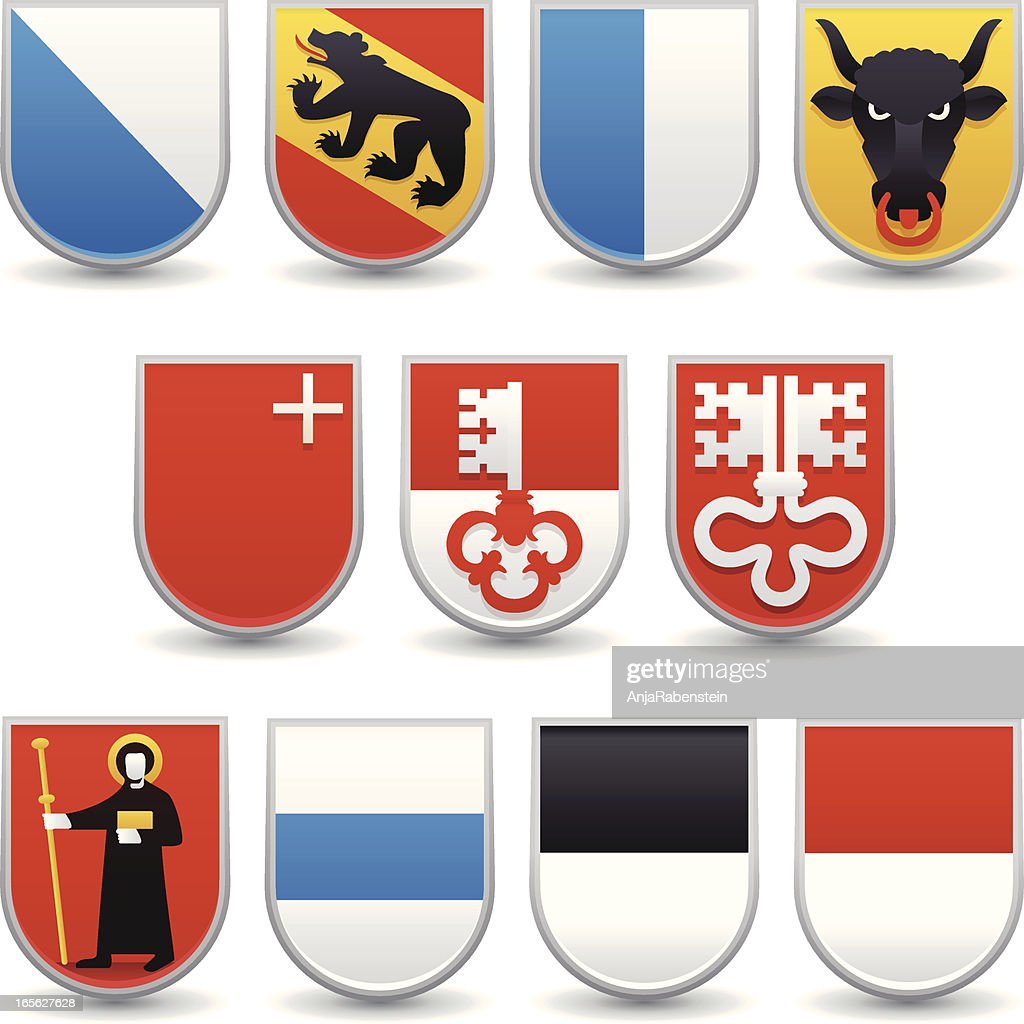 Switzerland Cantons Coats of Arms