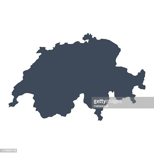 switzerland country map - switzerland stock illustrations
