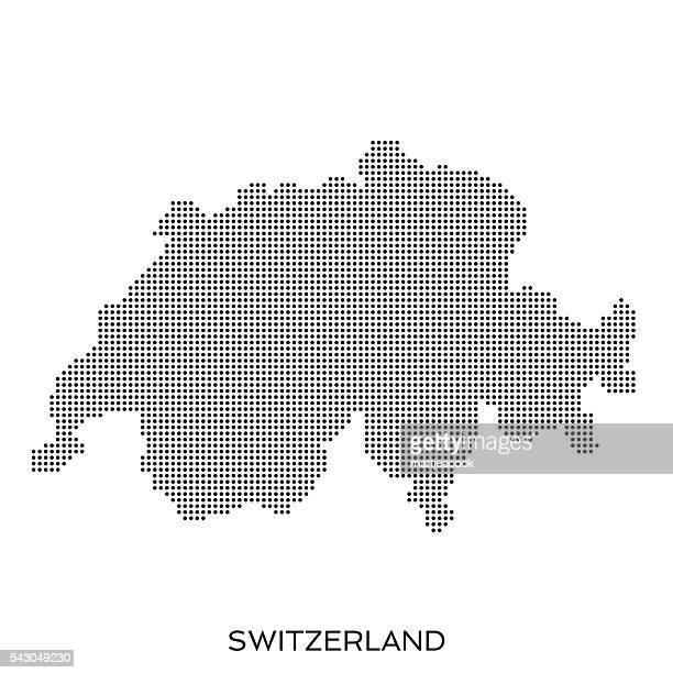 gepunktete halbtonmuster karte schweiz - switzerland stock-grafiken, -clipart, -cartoons und -symbole