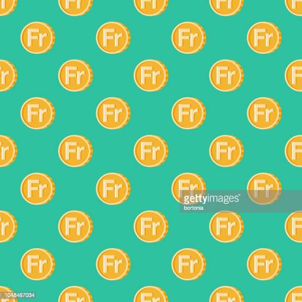 switzerland franc seamless pattern - franc sign stock illustrations, clip art, cartoons, & icons
