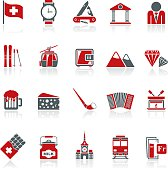 Switzerland industry and culture icons