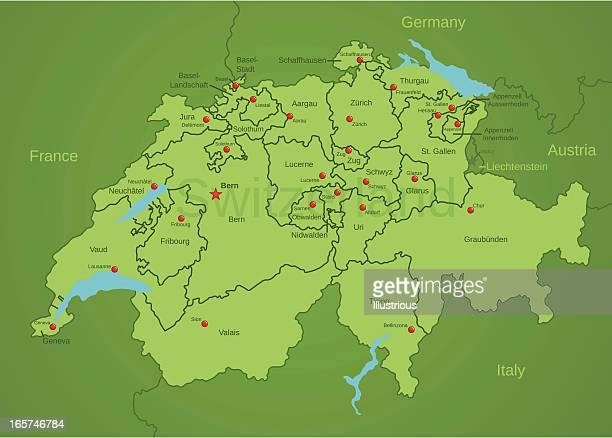 地図を選びいただけ、スイス - ヌーシャテル点のイラスト素材/クリップアート素材/マンガ素材/アイコン素材