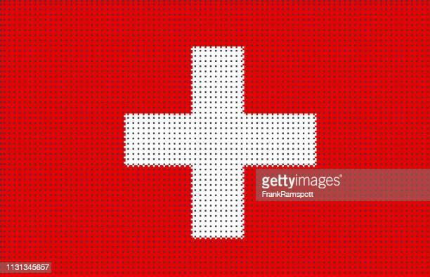 Schweiz pixelte Vektorfahne