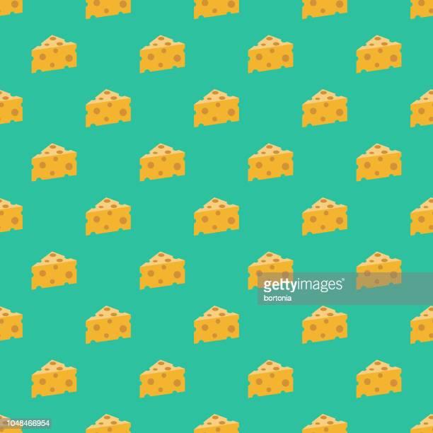 switzerland swiss cheese seamless pattern - swiss culture stock illustrations