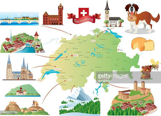 switzerland - swiss culture stock illustrations