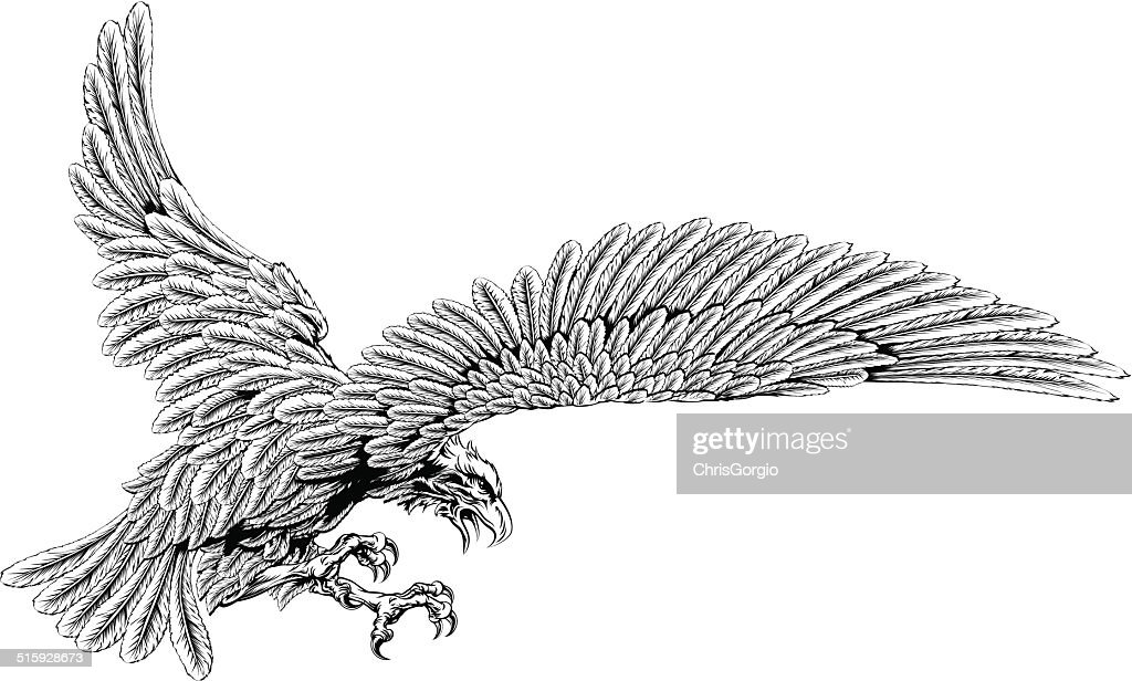 Swooping eagle