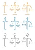 Sword and scales of justice