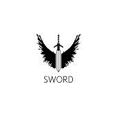 sword icon graphic design concept