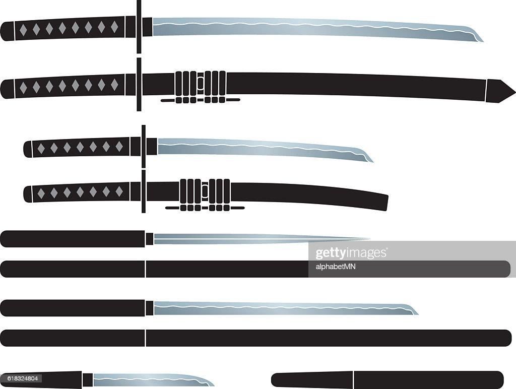 Sword of the ninja. Japanese spy. Japanese sword.
