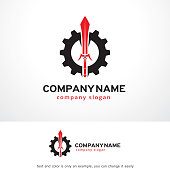 Sword Tech Symbol Template Design Vector, Emblem, Design Concept, Creative Symbol, Icon