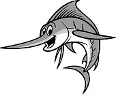 Swordfish Cartoon Illustration