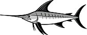 Swordfish Trophy Illustration