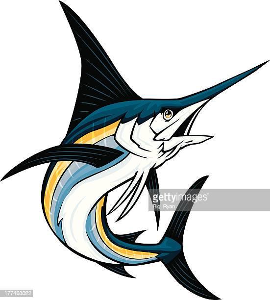 swordfish - sailfish stock illustrations