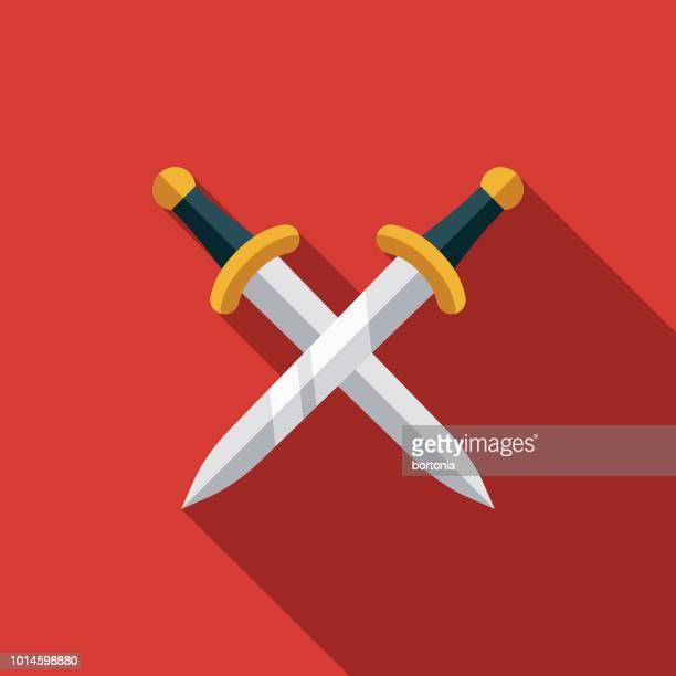 swords design greece icon - sword stock illustrations