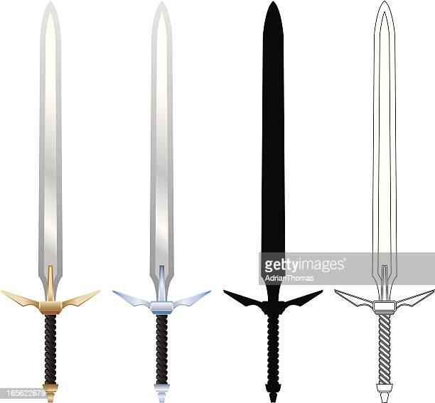 swords - razor blade stock illustrations, clip art, cartoons, & icons
