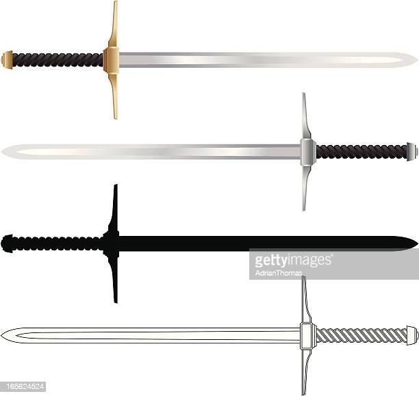 swords - sword stock illustrations