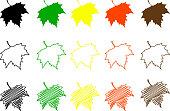 Sycamore leaf color set
