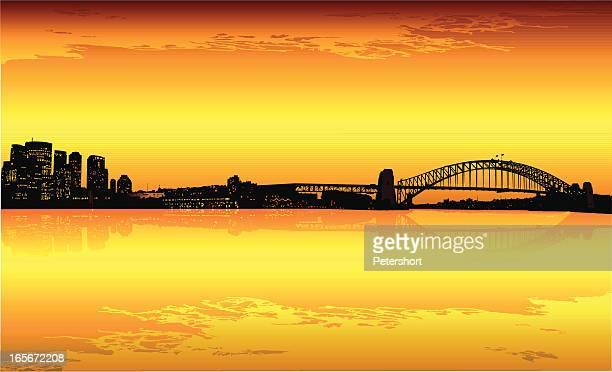 Sydney CBD at dusk