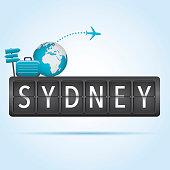 Sydney departure board