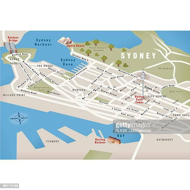 Sydney, NSW, Australia Map
