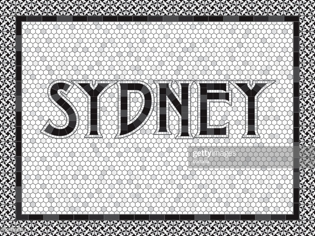 Sydney Old Fashioned Mosaic Tile Typography
