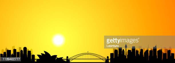 sydney (all buildings are moveable and complete) - sydney stock illustrations