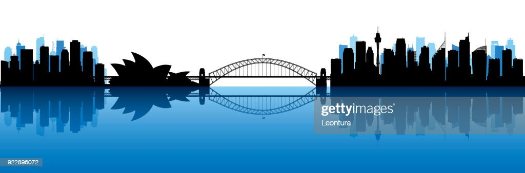 Sydney (All Buildings Are Moveable and Complete) : Stock Illustration