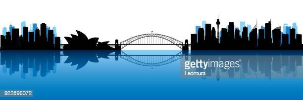 sydney (all buildings are moveable and complete) - australia stock illustrations