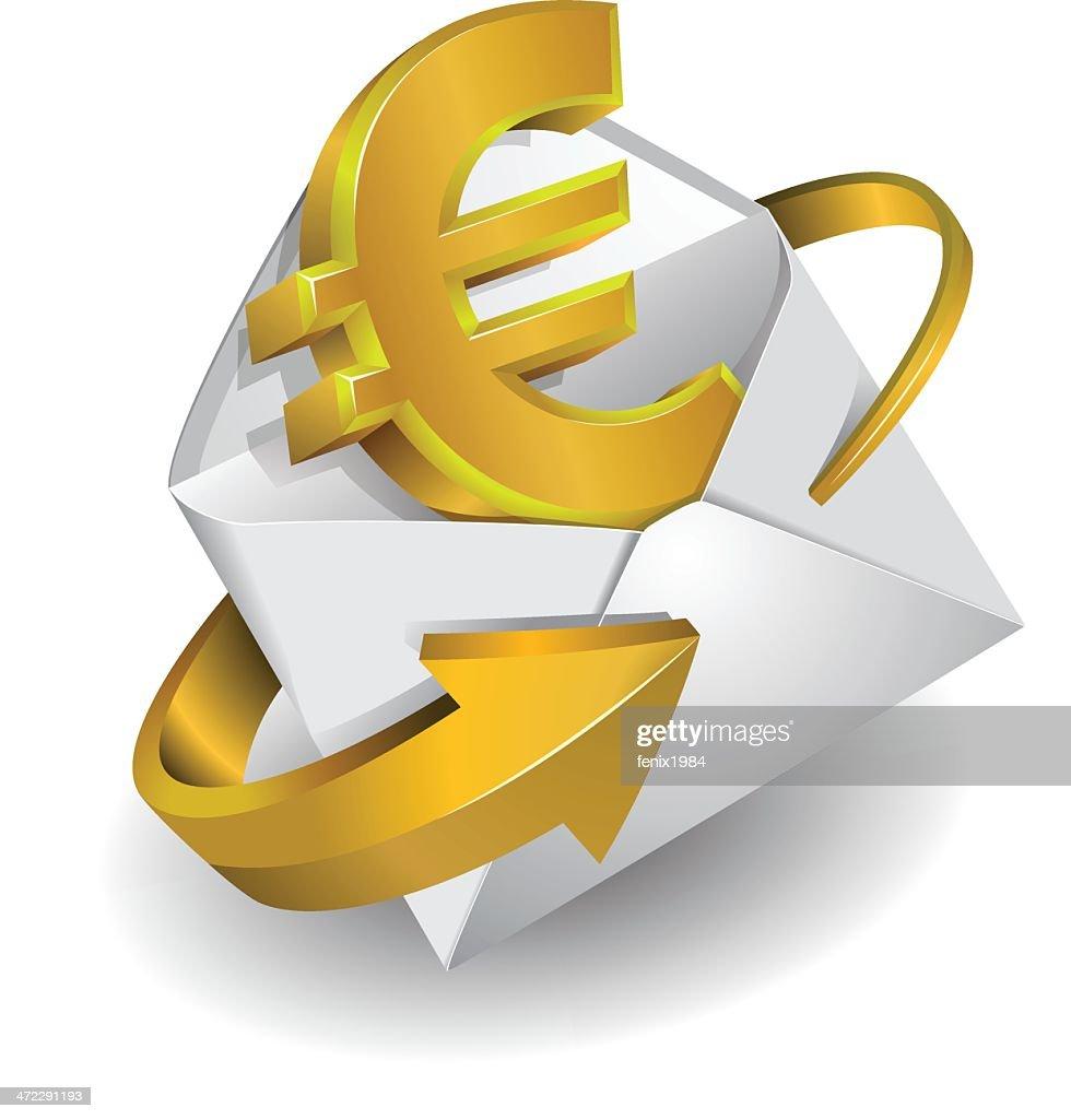 Symbol euro in envelope vector art getty images symbol euro in envelope vector art biocorpaavc