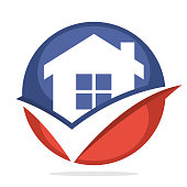 symbol icon for property agent business, proper home selection