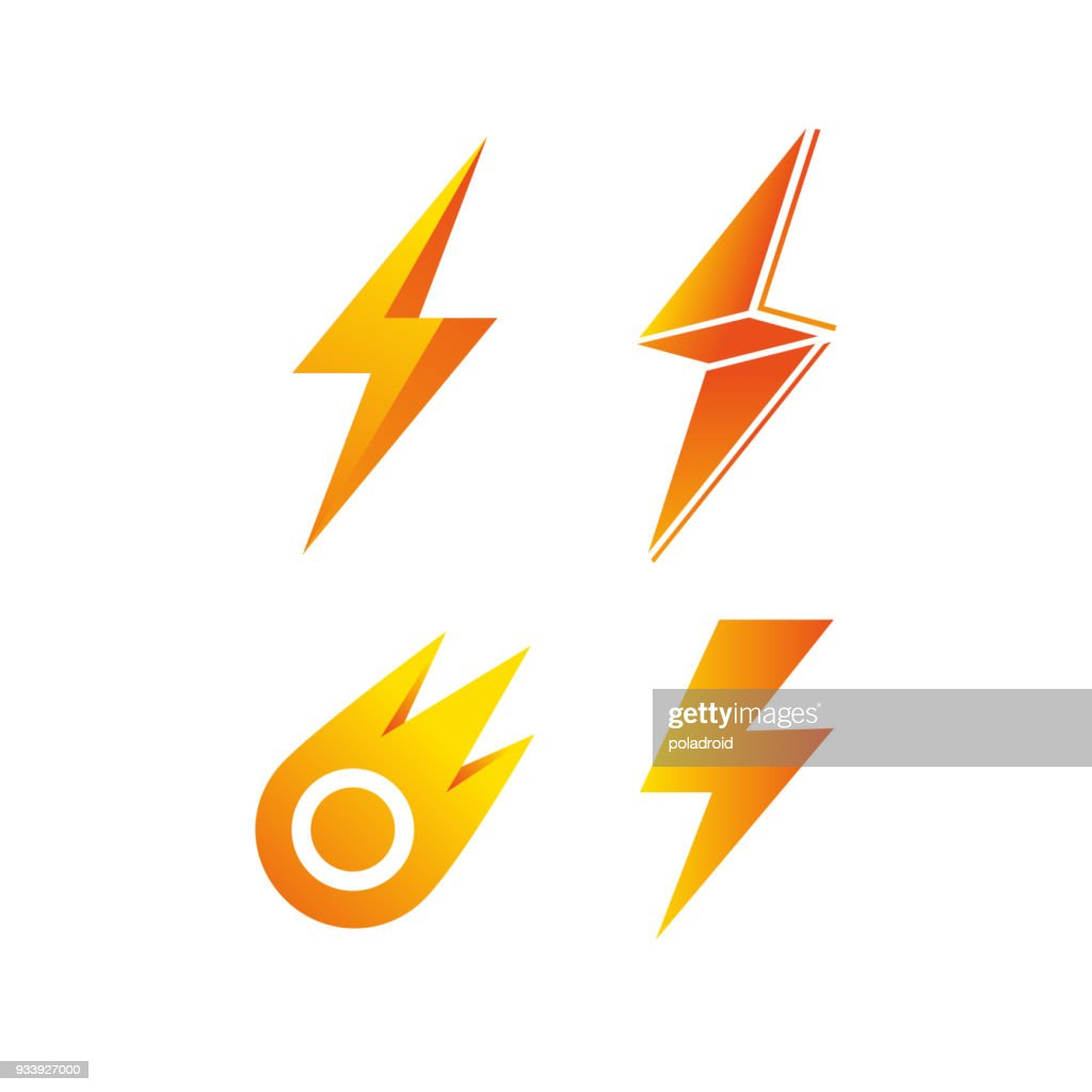 symbol in the form of lightning