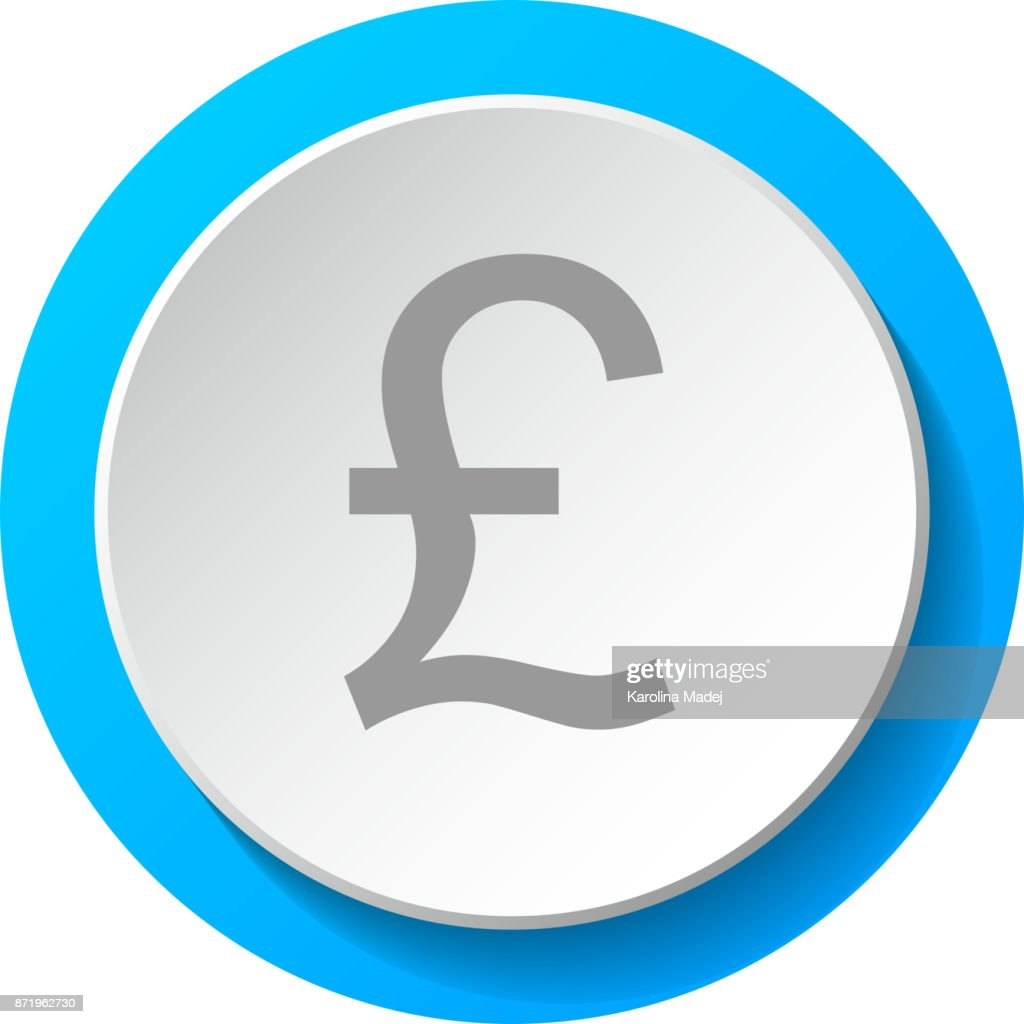 Symbol Of British Currency 3d Icon Vector Vector Art Getty Images