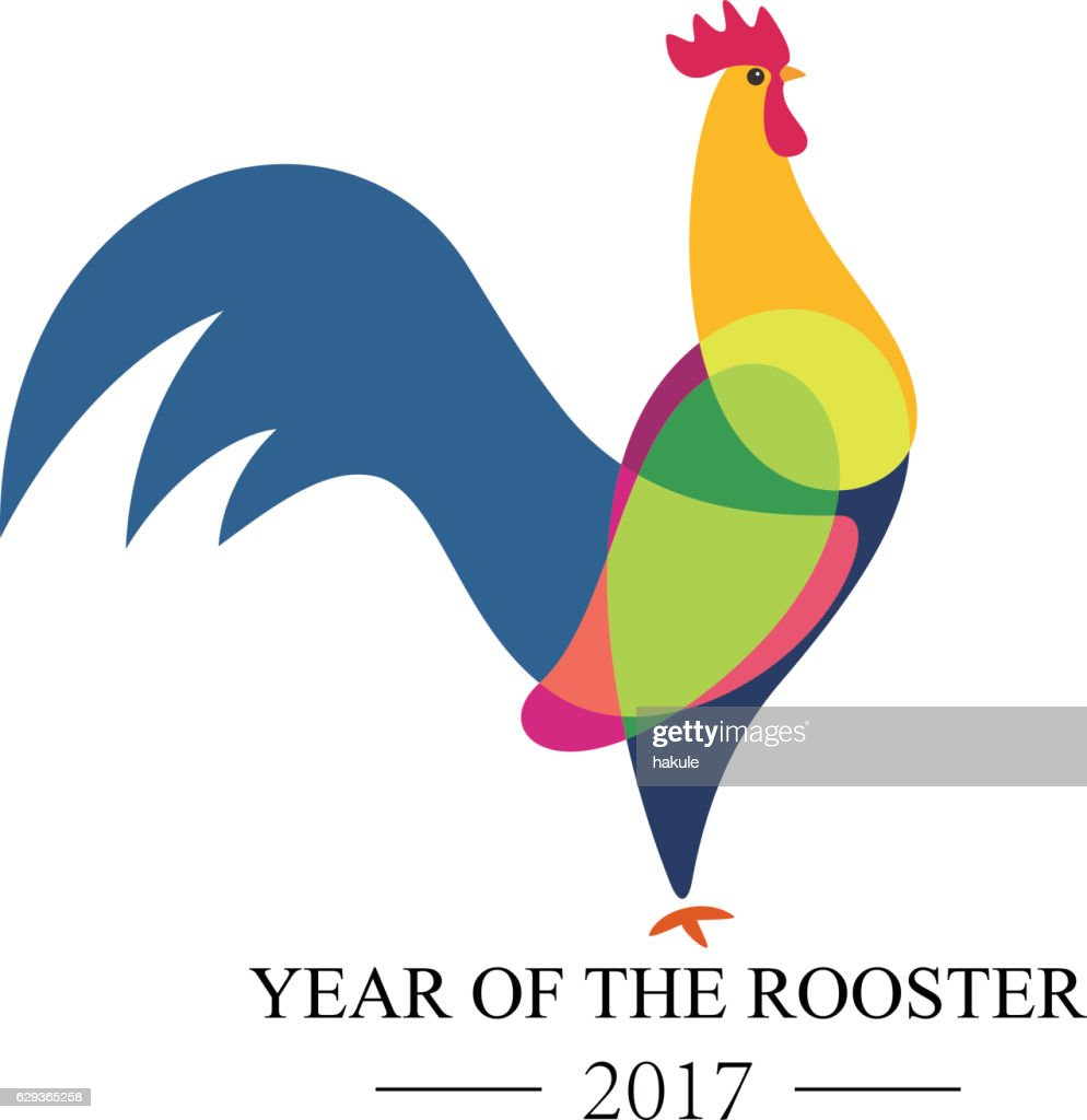 symbol of cock 2017 on the Chinese calendar.