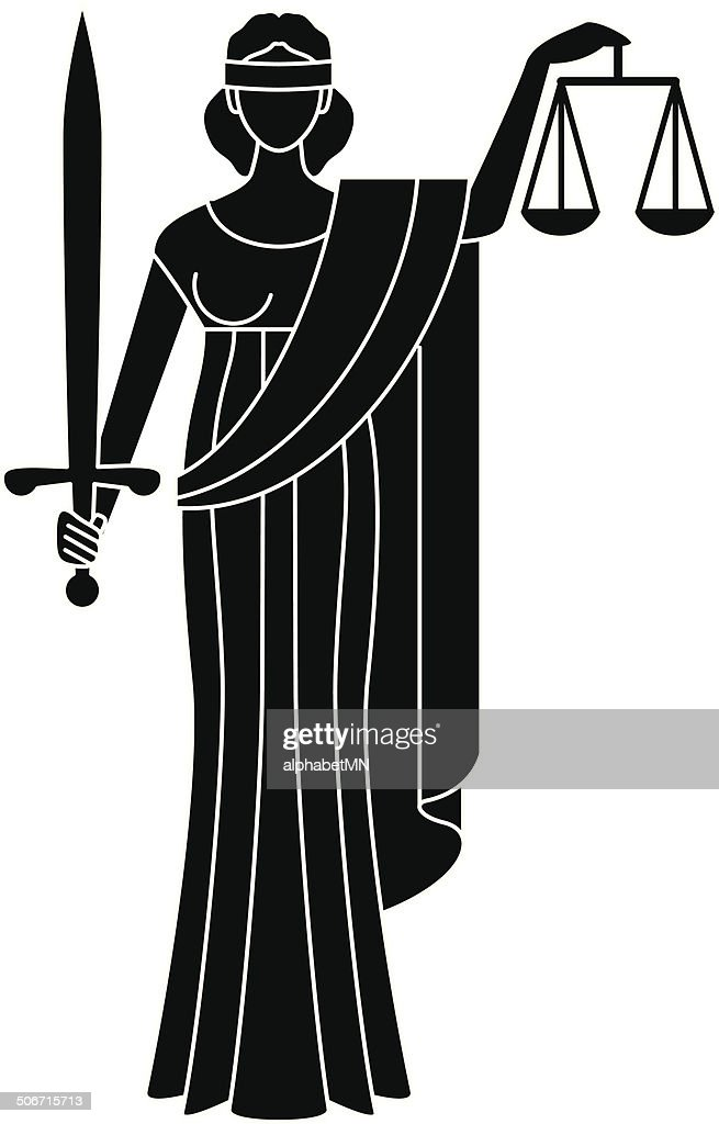 Symbol of justice. Goddess of justice. Themis