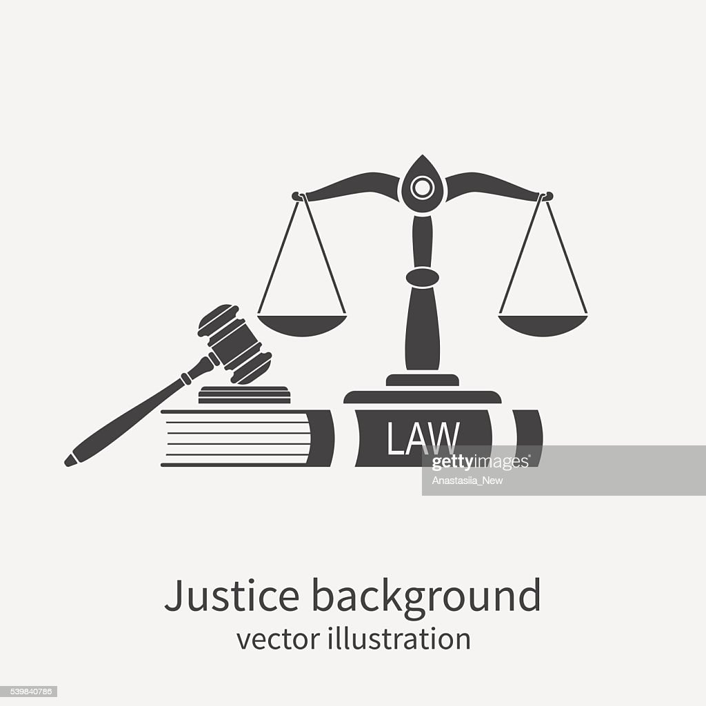 Symbol of law and justice. Concept law and justice.