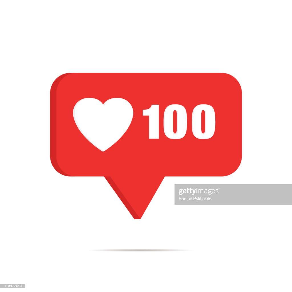 Symbol of like in social media favorite mobile application : stock illustration