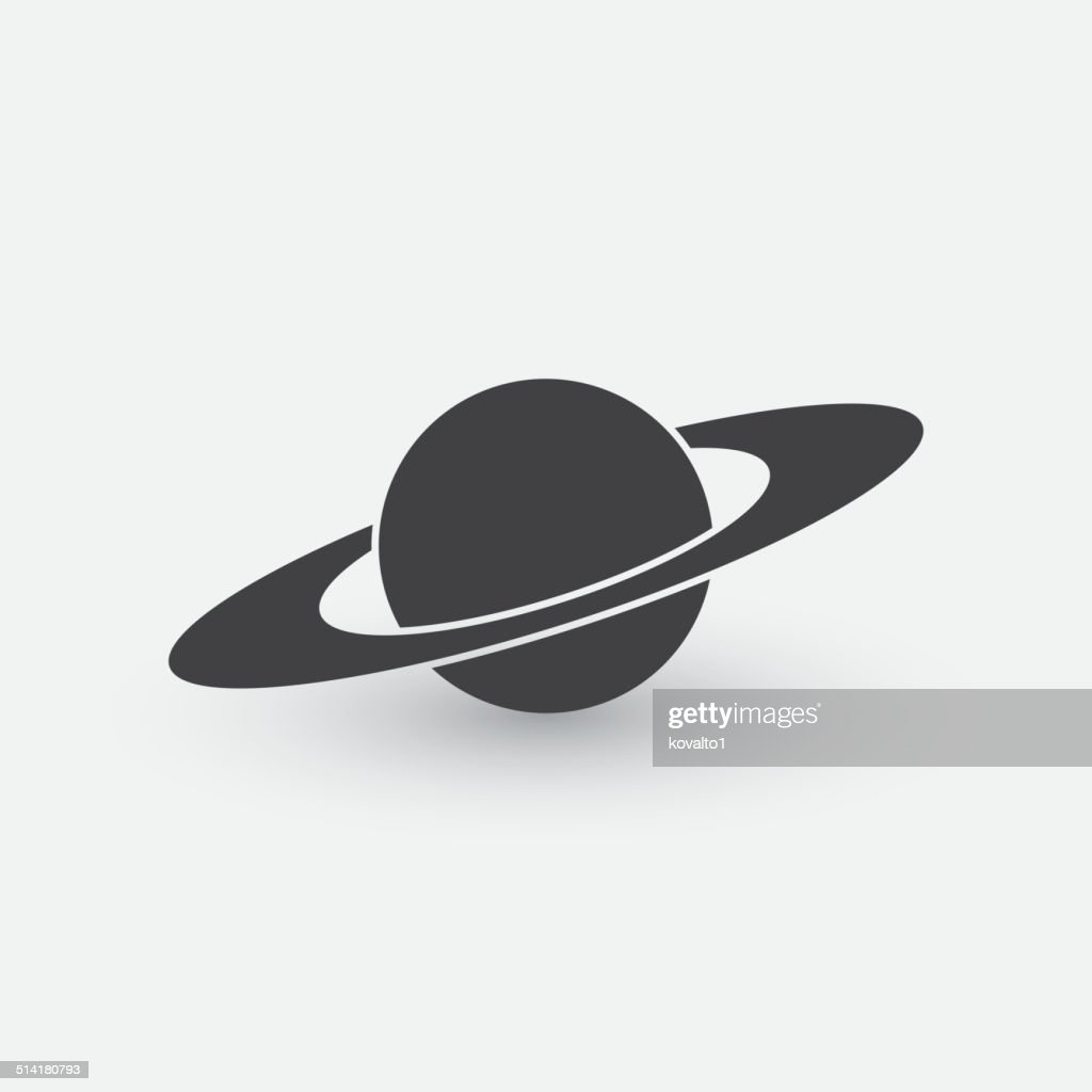Symbol of planet with rings