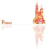 symbol of poland, vector illustration