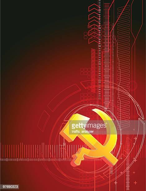 ilustraciones, imágenes clip art, dibujos animados e iconos de stock de símbolo de la ex unión soviética - socialismo