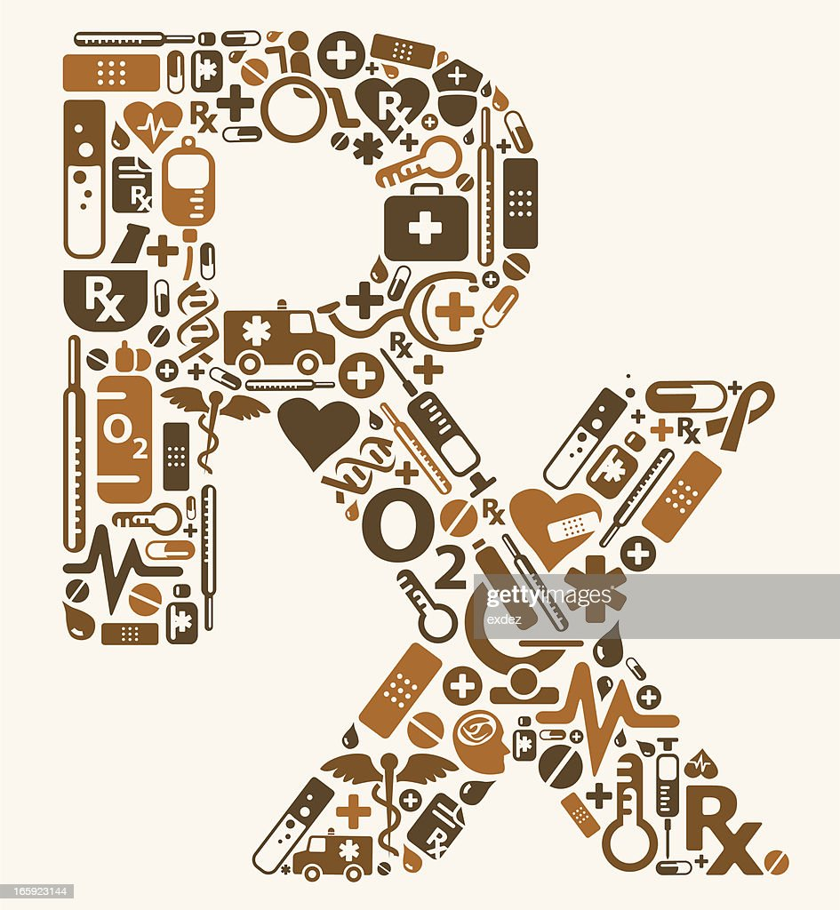 Rx symbol using medical icons vector art getty images rx symbol using medical icons vector art buycottarizona