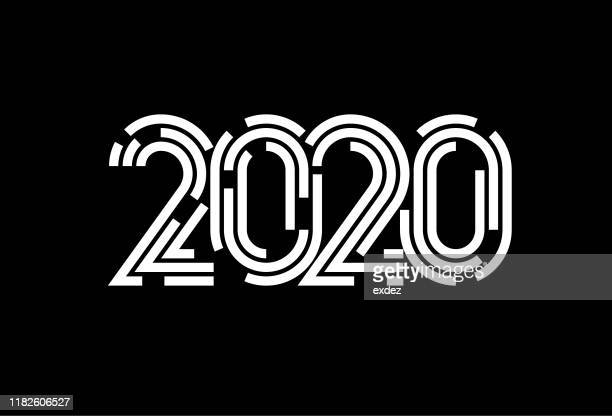 2020 symbol - 2020 stock illustrations