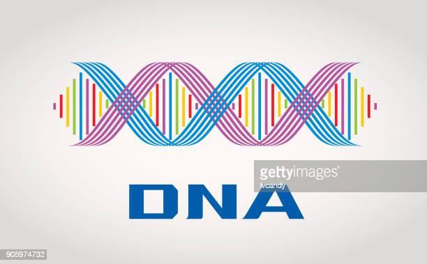 dna symbol - genetic mutation stock illustrations