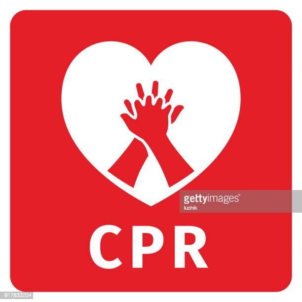 cpr symbol - first aid stock illustrations